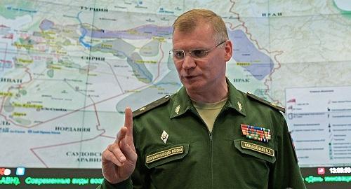 Phát ngôn viên Bội Quốc phòng Nga Igor Konashenkov. Ảnh: Sputnik