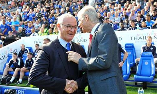 Wenger đánh giá rất cao những gì mà đồng nghiệp Ranieri và học trò ở Leicester đang làm được. Ảnh: Plumb Image.