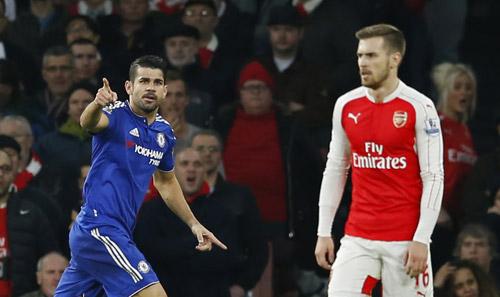 Diego Costa đang thay đàn anh Drogba trở thành hung thần với Arsenal trong các trận derby London.