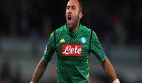 David Ospina trong màu áo Napoli.