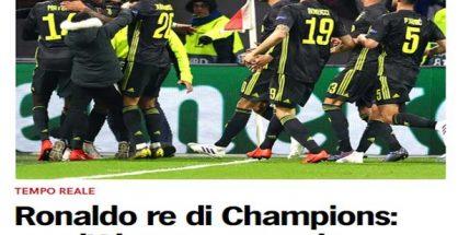 Chiến công Ronaldo bị báo quốc tế quên lãng